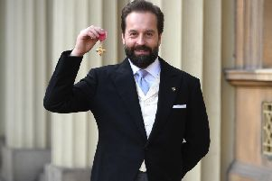 Alfie Boe with his OBE