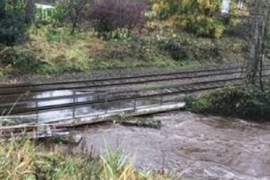 Parts of the rail network were flooded