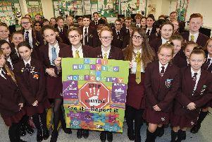 Pupils at Montgomery Academy in Bispham have been awarded a bronze charter mark for anti-bullying after taking part in HeadStart's #BlackpoolBeatingBullying campaign.