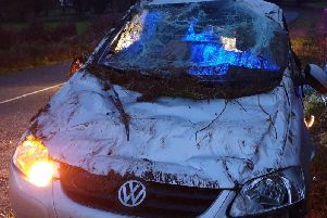 Damage to the car (Image: Lancs Road Police)
