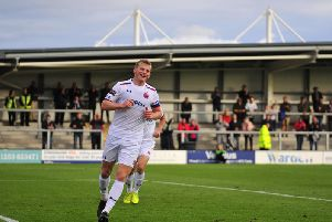 Danny Rowe scored a hat-trick in the last round of the FA Cup Picture: STEVE MCLELLAN