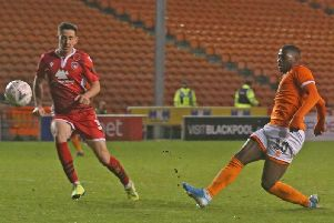 Sullay Kaikai scored his fifth goal of the season against Morecambe