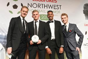 Danny Rowe was named the National League player of the season at last night's North West Football Awards