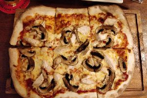 The pizza at the Jubilee Park in Cleveleys looked nice enough on top, but it was charred black on the bottom (Picture: JPIMedia/Michael Holmes)