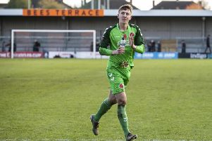Billy Crellin kept his first clean sheet on his second senior appearance for Fleetwood