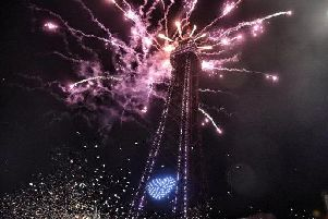 Blackpool tower at this year's illuminations switch-on