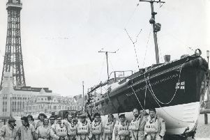 Blackpool Lifeboat and the crew in the 1970s