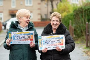Blackpool Peoples Lottery winners Sandra Davidson and Lesley Guile
