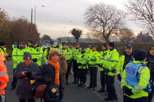The eviction of anti-fracking campaigners from a camp in woodland off Preston New Road has provoked anger