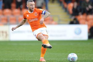 Jay Spearing is enjoying greater freedom in his midfield role at Blackpool