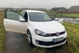 The Golf GTI was found this morning (CREDIT: Lancs Road Police)