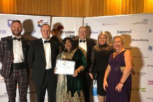 The news was announced at the Inclusive Companies Awards in Manchester. (Credit: Lancashire Police)