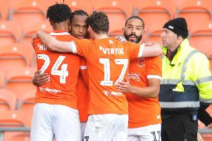 Nathan Delfouneso scored two of Blackpool's goals