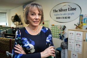 Esther Rantzen at The Silver Line charity in Blackpool