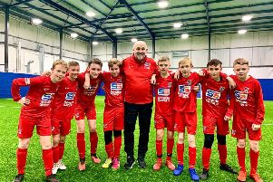 Mike Phelan and some of the youngsters