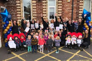 Staff and children at Poppy and Jacks celebrate the report