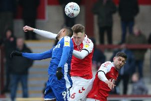 Fleetwood Town's Harry Souttar and Gillingham's Mikael Mandron