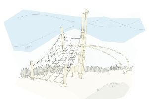 Artist's impression of part of the new play area at Jubilee gardens in Cleveleys
