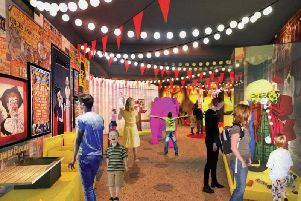 An artists impression of the museum