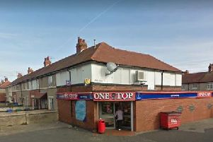 A robber armed with a knife made off with cash from a One Stop store in Fleetwood. Pic: Google Street View