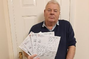 David Hawtin with the notices he was sent