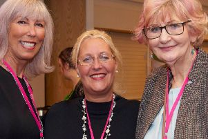 Pictured at a Pink Link Ladies Business networking session in Lytham are, left to right, Belinda Campbell Julia Eastwood and Ray Howard
