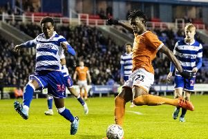 Armand Gnanduillet is set to be involved in Blackpool's FA Cup replay against Reading