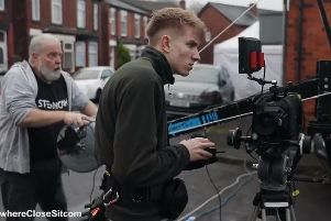The filming of Nowhere Close in Blackpool