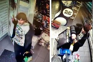 Police want to speak to this woman, who was captured on CCTV, after the theft of charity boxes from a shop in Westcliffe Drive, Layton on Monday, January 13
