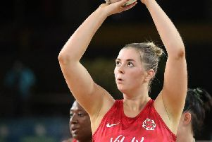Eleanor Cardwell has retained her England place for the Vitality Nations Cup'Picture: ENGLAND NETBALL