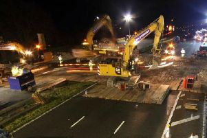 Time lapse video showcases Lancashire M6 bridge demolition