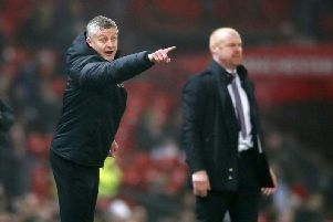 United boss Solskjaer on the touchline against Burnley