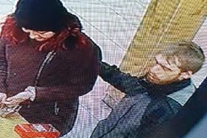 Police want to identify the pair who are wanted in connection with a burglary in Riversway in January. Pic: Lancashire Police