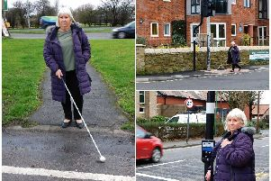 June McLaughlin can now walk into Poulton unaided thanks to new crossings