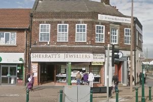 Sherratt's Jewellers at the junction of Victoria Road West and Rossall Road, Cleveleys was broken into at around 5.45am this morning (January 24). Pic: Google