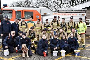 A fund-raising target of 11k has been set for the 11-mile walk in full firefighting kit