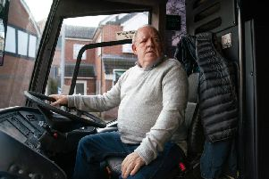 Undated handout photo issued by ITV of special guest star John Henshaw, playing grumpy bus driver Des in Coronation Street's 10,000th episode. PA Photo. Issue date: Monday January 27, 2020. The episode means that Coronation Street has become the longest running soap opera (Picture: ITV/PA)