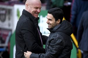 Sean Dyche and Mikel Arteta