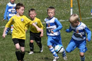 Action from the Under-7s Festival