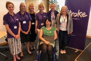 Members of the stroke team and patients