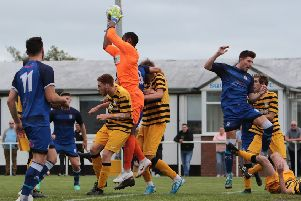 Squires Gate lost to Congleton Town            Picture: Ian Davies