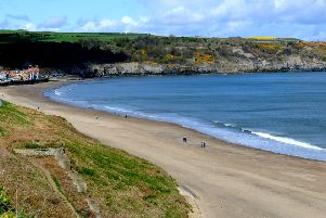 View of Sandsend near Whitby.