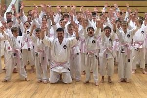 Musuko Karate Academy in Fleetwood wore pink belts to raise money for breast cancer awareness.