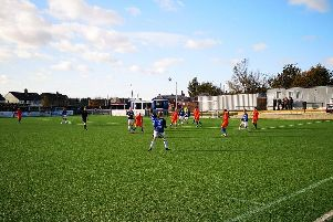 AFC Blackpool in action at Avro