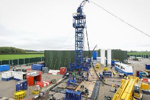 Cuadrilla's fracking site in Little Plumpton, Lancashire
