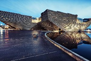 The Victoria & Albert Museum on Dundee waterfront.