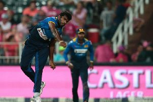 Lahiru Dilshan Madushanka playing for Sri Lanka against South Africa in 2017 Picture: GETTY IMAGES