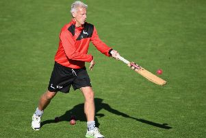Head coach Peter Moores during a training session at Trent Bridge. (PHOTO BY: Laurence Griffiths/Getty Images)