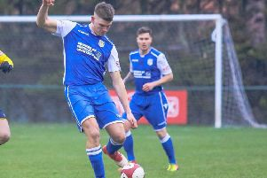 Tom Burgin, who went close to a goal with an overhead kick in Frickley Athletic's game at Belper Town. Picture: Onion Bag Photos