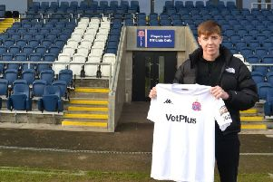 Tom Crawford will spent the rest of the season on loan with AFC Fylde